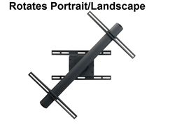Rotating TV wall bracket for Smart SPNL-4055 interactive flat panel displays. This grab and spin wall mount rotates between  0 and 90 degrees for a portrait and landscape positioning.  The bracket s a two piece design for fast assembly. Features: Security screws on wall plate prevents removal, Depth From Wall: 3.7, Weight Capacity: 160 lbs. VESA 600x400mm ready. Product Code: PRE-ROTATE-SMART-SPNL-4055