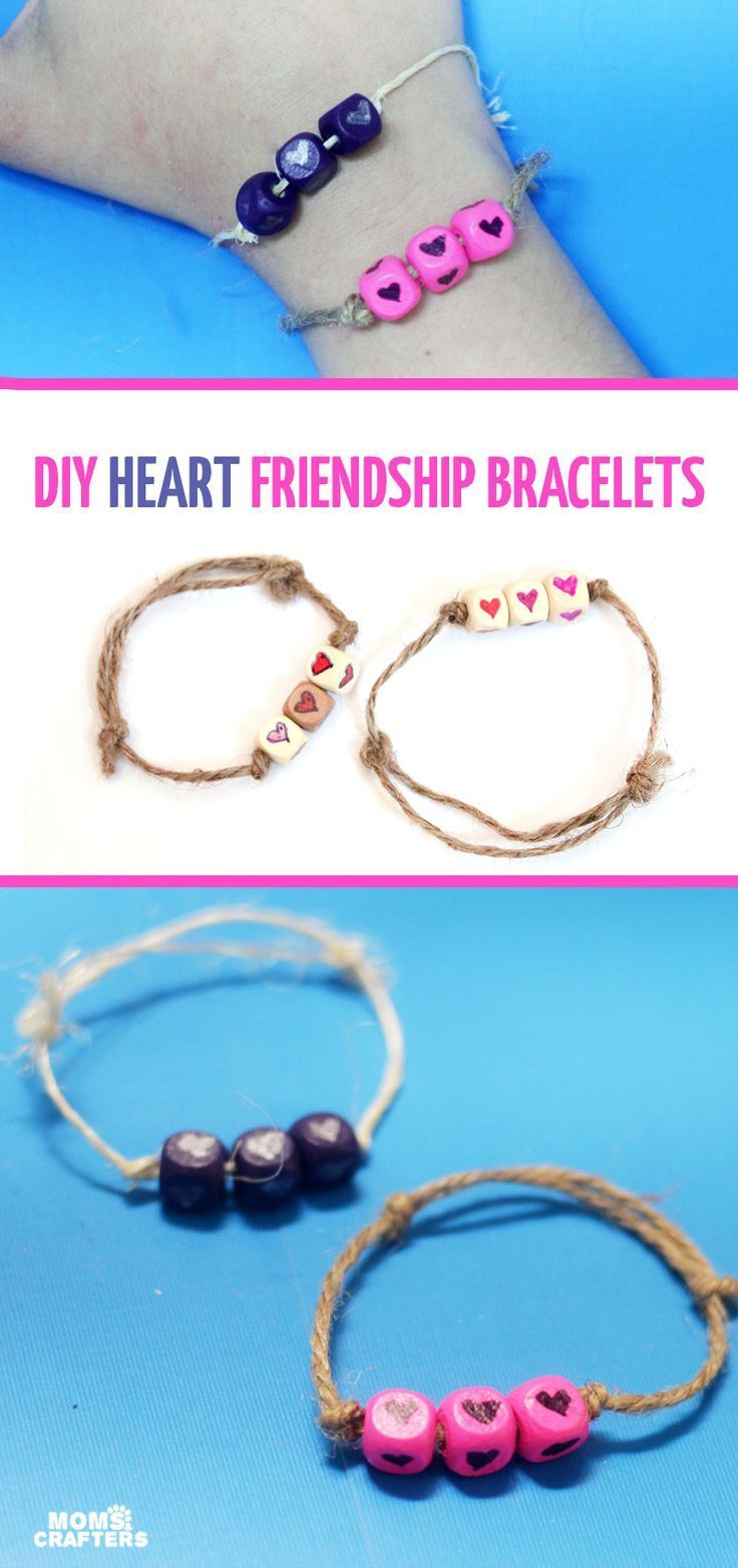 How to make DIY heart friendship bracelets - a budget friendly and time friendly craft - perfect for valentines day!!