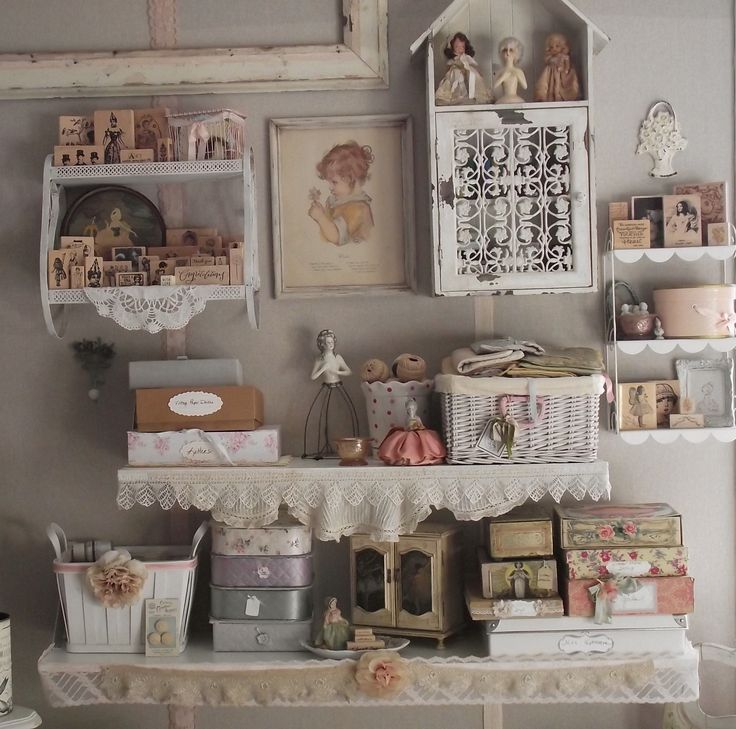 Craft room idea so pretty shabby chic organizing - Shabby chic storage ideas ...