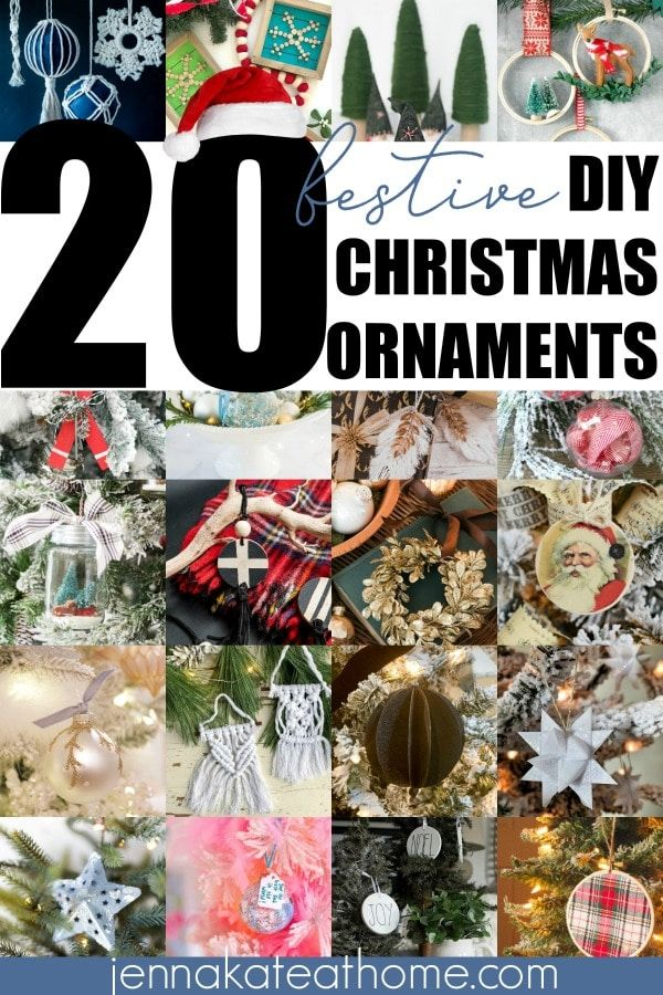 20 Festive Diy Christmas Ornaments Christmas Diy Diy Christmas Ornaments Christmas Ornaments