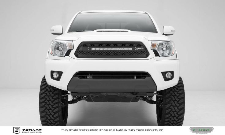Toyota Tacoma - ZROADZ Series - Main Insert - Grille w/ One 20 Inch Slim Line Single Row LED Light Bar - Includes Universal Wiring Harness
