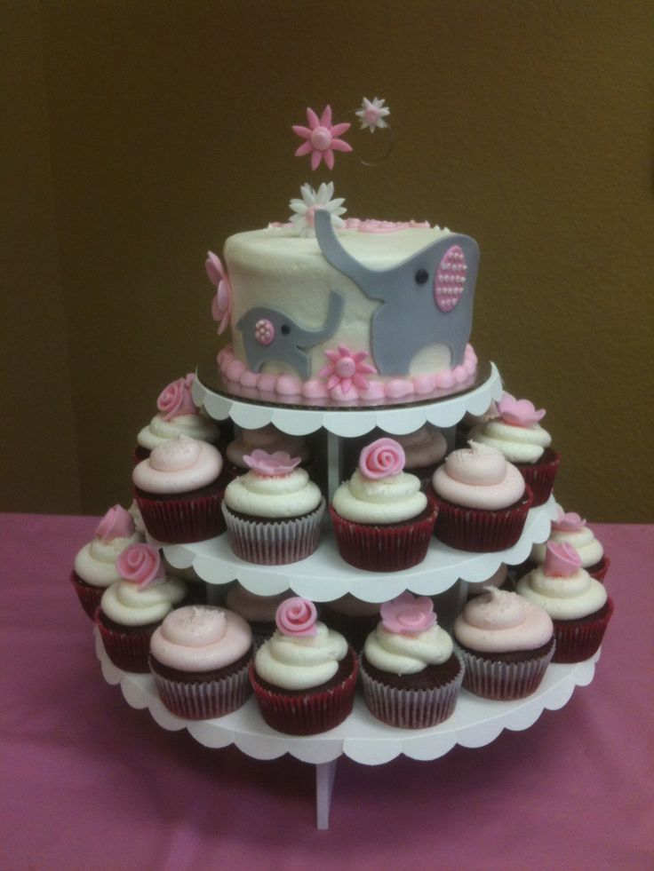 Red Velvet Cupcakes and Cake for baby.