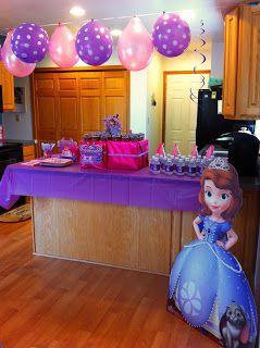 CupcakesandHomeschool: Sophia The First Birthday Party