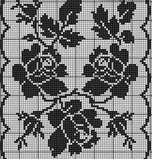 Розы филейным узором  Настоящий, большой подарок рукодельницам, увлекающимся вязанием в технике филейного кружева - большая подборка схем. Все схемы в статье объединены одной темой - это связанные крючком розы. Данные схемы можно использовать для вязания различной одежды - топов, пуловеров и жакетов, а также элементов декора для интерьера - салфетки, занавески и наволочки на подушки. В статье представлены схемы с единичными цветками, так и целые букеты из роз, букеты на ветке в обрамлении…