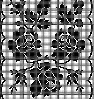 Розы филейным узором  Настоящий, большой подарок рукодельницам, увлекающимся вязанием в технике филейного кружева - большая подборка схем. Все схемы в статье объединены одной темой - это связанные крючком розы. Данные схемы можно использовать для вязания различной одежды - топов, пуловеров и жакетов, а также элементов декора для интерьера - салфетки, занавески и наволочки на подушки. В статье представлены схемы с единичными цветками, так и целые букеты из роз, букеты на ветке в обрамлении из…