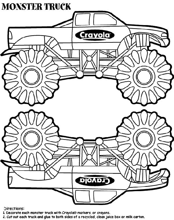 Crayola - Monster Truck Box coloring page