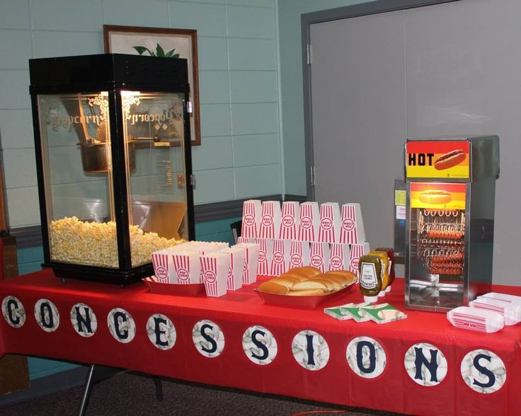 Baseball party Concession stand