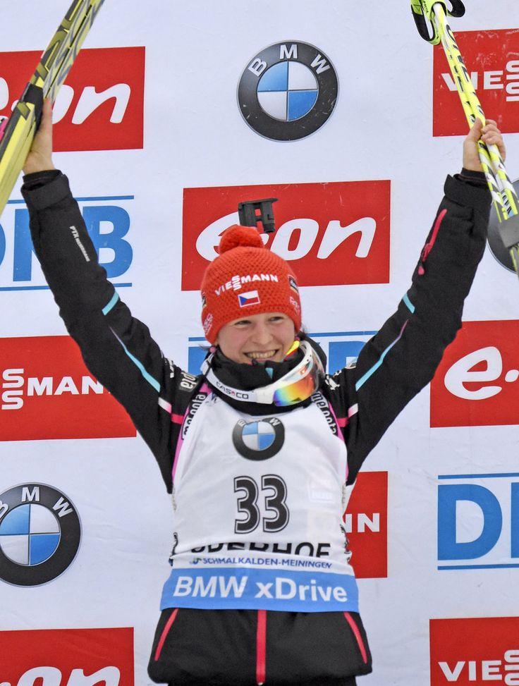 Česká biatlonistka slaví nečekaný triumf
