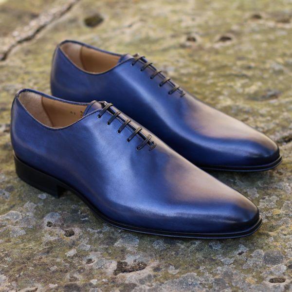 Wholecut Oxford Shoe Blue | Thomas Bird