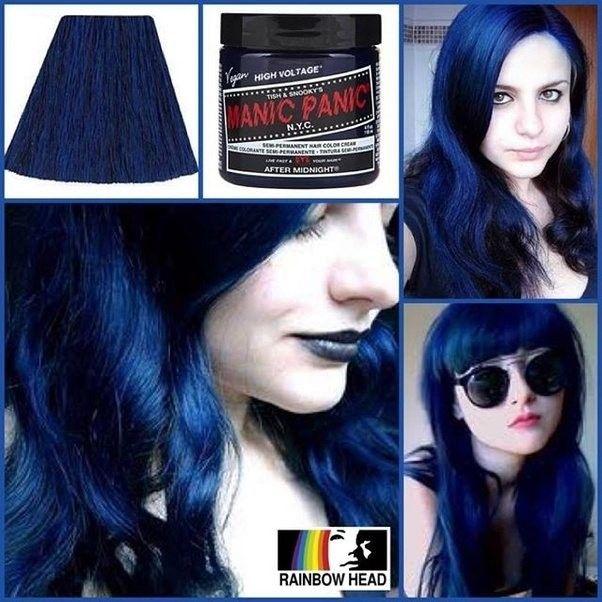 Indigo Blue Hair Colour For Pale Skin Hair Color Blue Dyed
