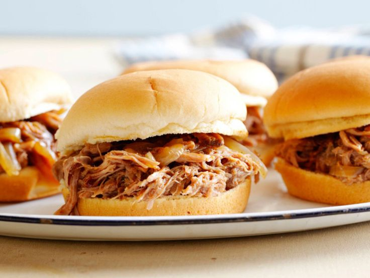 BBQ Pulled Pork Sandwiches recipe from Robert Irvine via Food Network