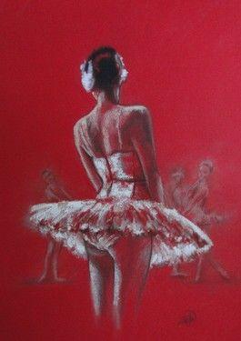 "Saatchi Online Artist Zoe James-Williams; Drawing, ""The Red Swan"" #art"