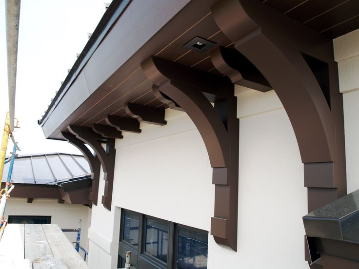 Custom Large Arch Brackets And Soffit Corbels By Durabrac 100 Vinyl And Painted To