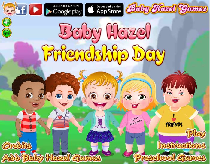 Enjoy partying and a fun-filled day out with Baby Hazel and friends this Friendship Day. http://www.babyhazelgames.com/games/baby-hazel-friendship-day.html