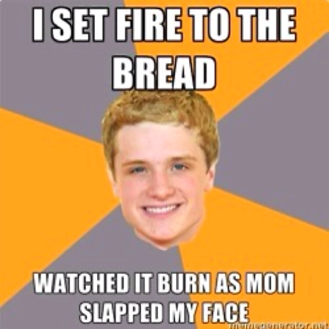 Hunger Games!Memes, Laugh, The Hunger Games, Advice Peeta, Breads, Funny Stuff, Thehungergames, Things, Hunger Games Humor