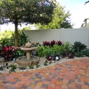 Courtyard planting with hardscape fountain melbourne for Courtyard designs melbourne