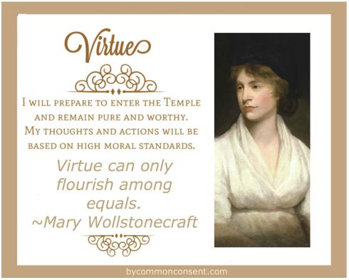 Young Women Values VIRTUE Mary Wollstonecraft
