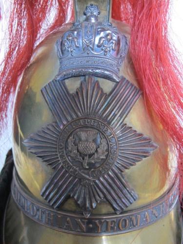 British Royal Midlothian Yeomanry Cavalry Helmet (circa 1843 - 1860) | eBay