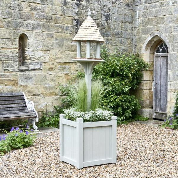 Our new Ivy Bird Table secured in a Chiddingstone Planter. Perfect for the terrace or patio