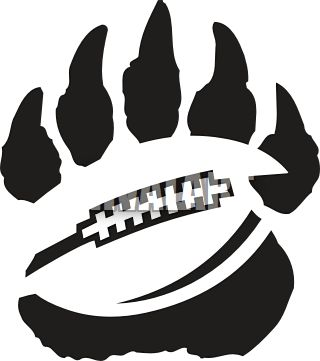 panther football clipart | Football Paw Print