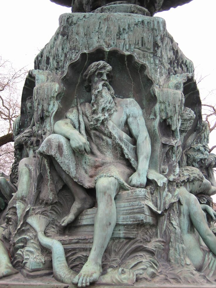 "Ægir (Old Norse ""sea"") is the god of the ocean & king of the sea creatures in Norse mythology. He often appears in art as a thin old man with clutching hands & long white hair resembling sea foam, although he is sometimes shown as a giant.  The Norse, a seafaring people who knew the sea & its dangers, valued Aegir highly. Aegir & his wife carried a net with which they could trap seafarers & pull them down to their underwater kingdom. Drowned sailors were said to dine at Aegir's banquet hall."
