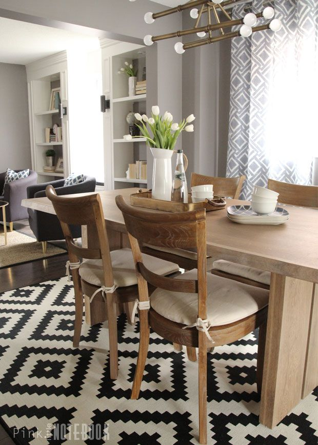 Before + After Makeover: Combined Living + Dining Room