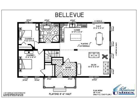 Bellevue - Maisons usinées et préfabriquées par Maison Usinex