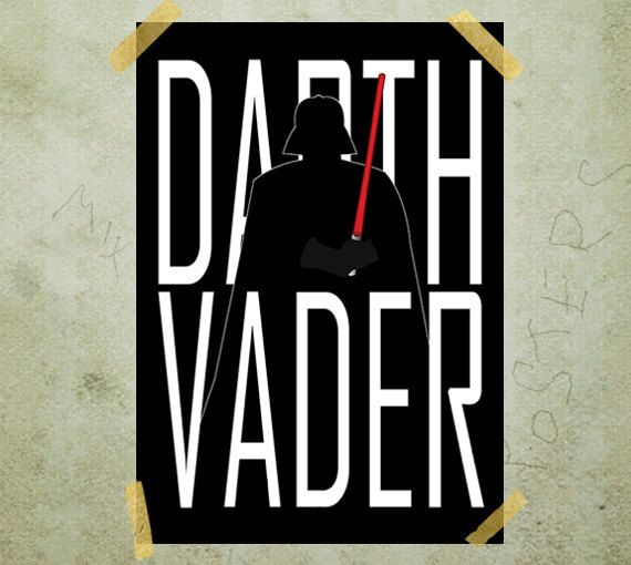 Darth Vader Star Wars poster print A3 by MixPosters on Etsy,