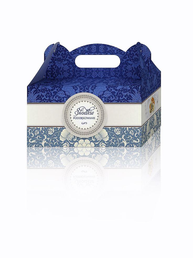 """Nasze pudełko na ciasto """"SZAFIR"""" pudełkanaciasto#podziękowaniadlagości#"""