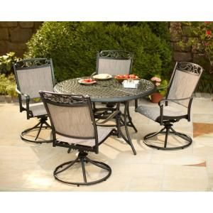 $699 Hampton Bay, Santa Maria 5 Piece Patio Dining Set, S5 ADQ10801