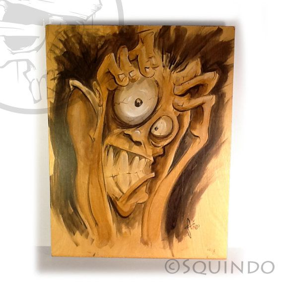 Squindo Original painting Frantic by SQUINDO on Etsy, $250.00