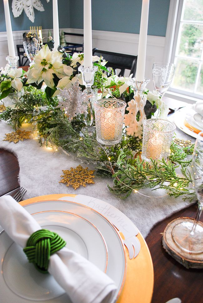 Frosted Forest Winter Tablescape Tutorial Winter Tablescapes