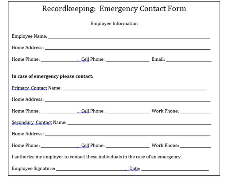 Contact form template word client information sheet template the 25 melhores ideias de emergency contact form no pinterest contact form template word pronofoot35fo Images