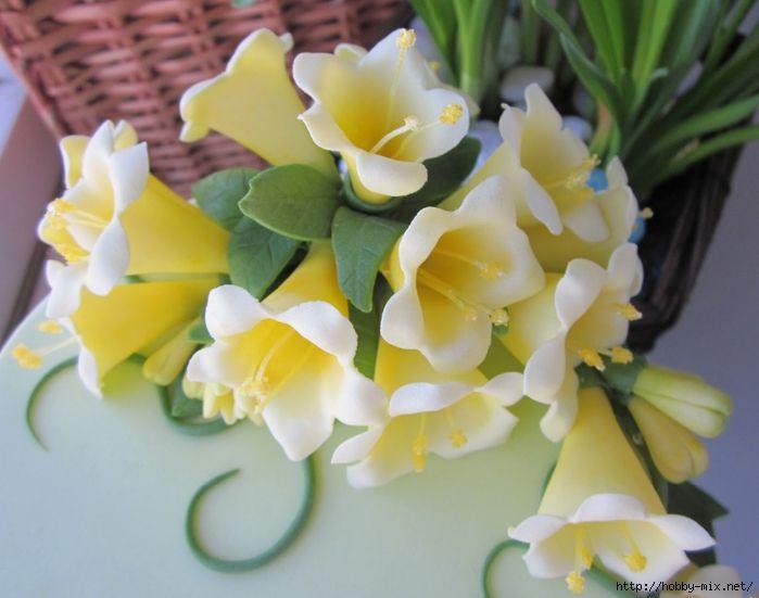 Лепка. Шикарные цветы из сахарной мастики для украшения тортов. Фото мастер- классы- много