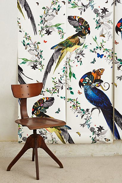 83 best forest hill guest suite images on pinterest for Bird mural wallpaper