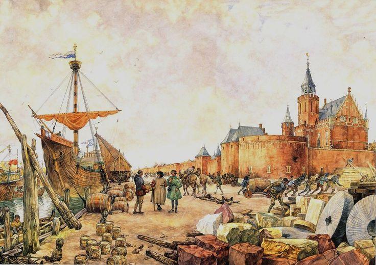 De #Hanzestad #Kampen, 1441 | #Schoolplaat (pin by marianne bosch-major on geschiedenis)