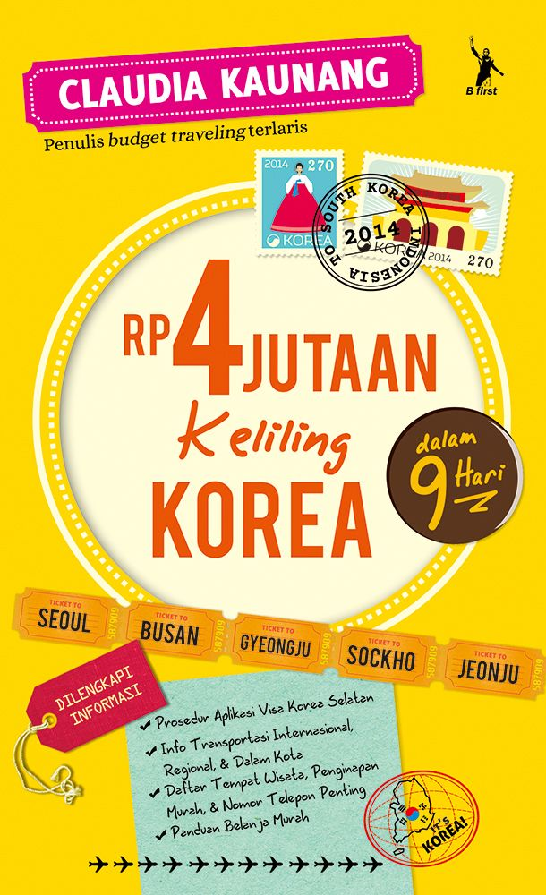 "Coming soon from Claudia Kaunang ""Rp 4 jutaan Keliling Korea"""