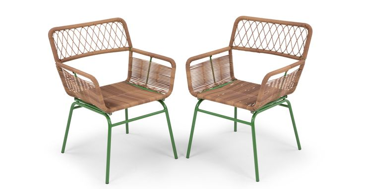 Lyra Dining Chair Set, Green