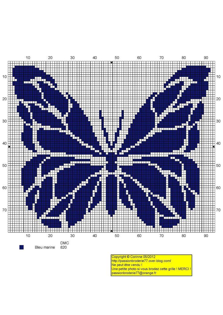 Granatowy Motyl nr 1