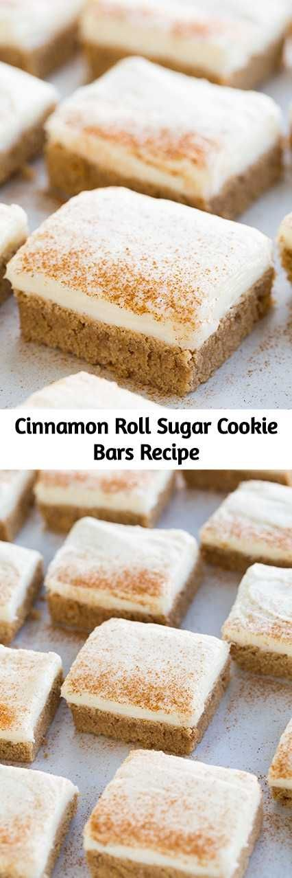 Cinnamon Roll Sugar Cookie Bars Recipe
