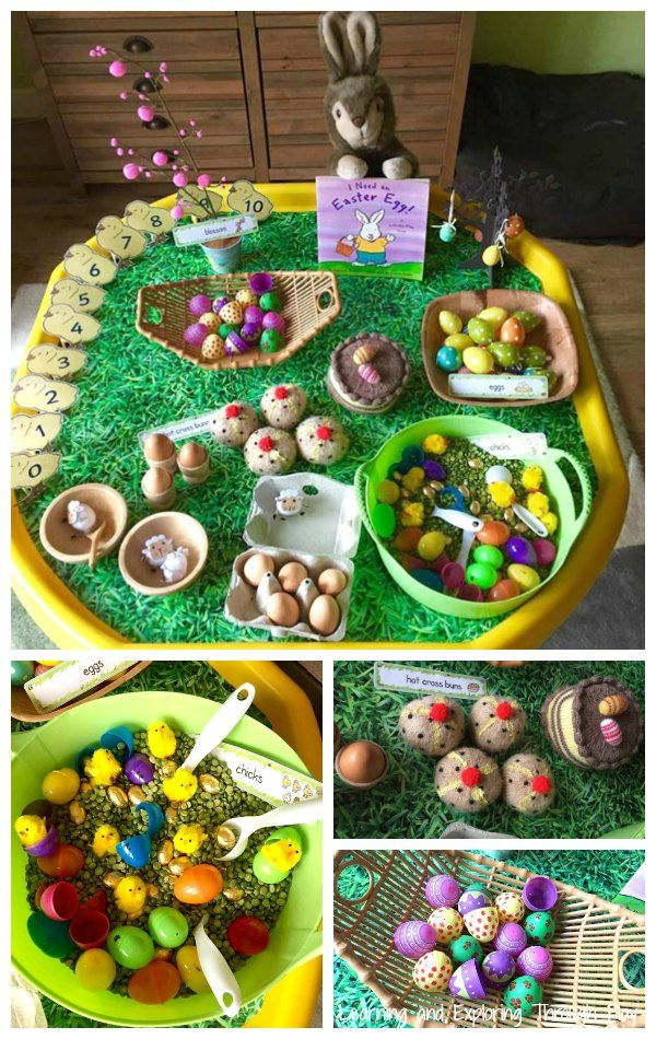Use your Tuff Tray to introduce Easter to you children, through their play.