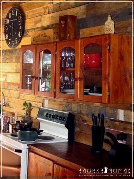 Rustic kitchen cladding