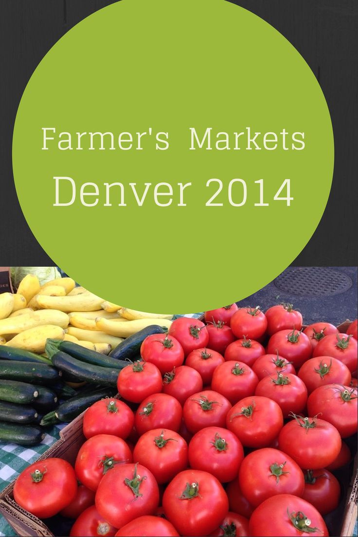 A great interactive guide to Denver's best Farmer's Markets!