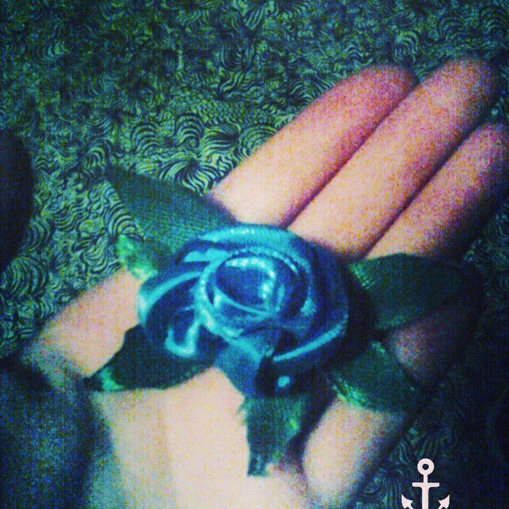 Роза из ленточек