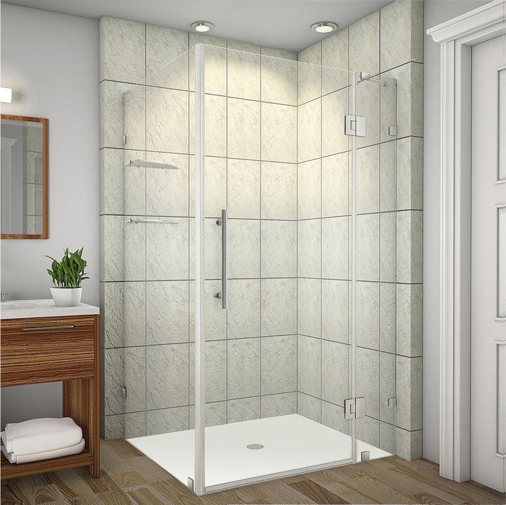 Aston   SEN992 Avalux GS Completely Frameless Square | Rectangular Shower  Enclosure With Shelves (http