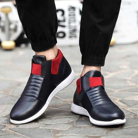- Casual laceless elastic sneakers for a stylish look - Easy slip-on access - Comfortable breathable upper - Made from PU - Rubber sole - Available in 3 colors