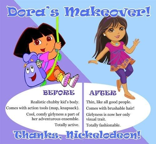 Did Dora actually need a makeover? | 19 Ridiculously Sexist Adverts From The Present Day