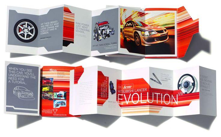 Mitsubishi auto show brochure #advertising