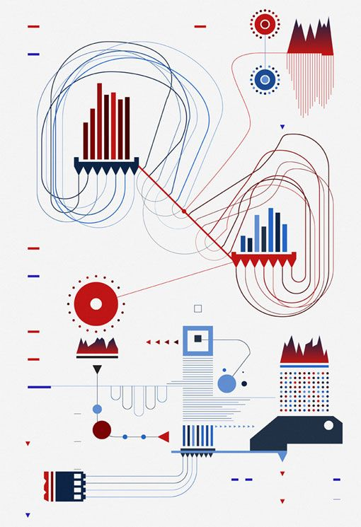 eric frommelt - abstract, data visualization-inspired art