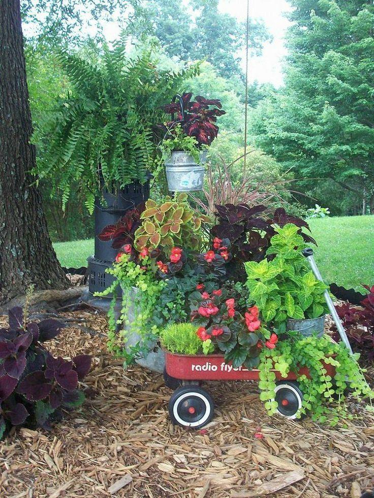 Repurposed Junk Garden Gardening Pinterest